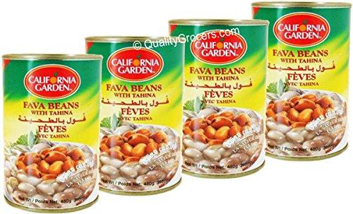 California Garden - California Garden Fava Beans with Tahina 450g (4 cans)