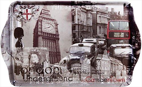 Home Essentials Masterpiece London Melamine Med Tray Home Essentials /& Beyond 60673
