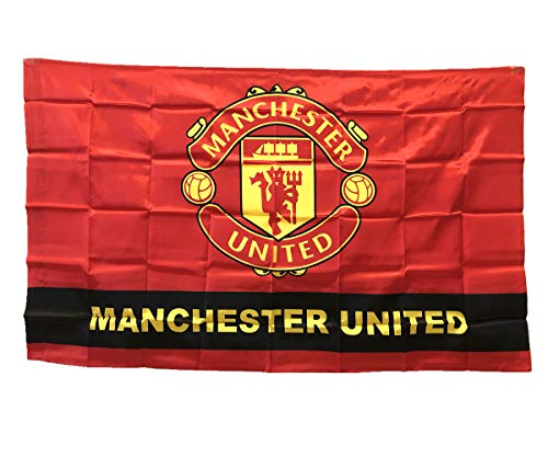 - Manchester United Man Utd Soccer Flag - FC Club Banner for Wall Patio Garden Lawn Outdoor Nylon Flag Red/Home 5935IN