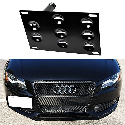 iJDMTOY Front Bumper Tow Hole Adapter License Plate Mounting Bracket For Audi A4 A5 A7 S4 S5 S7 RS5 RS7, etc