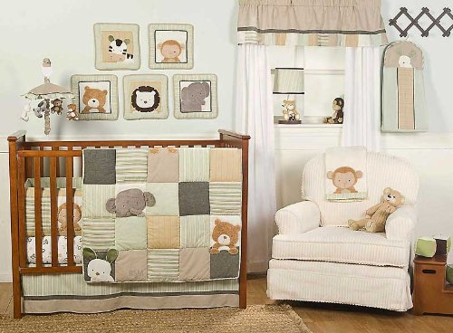 Bear and Buddies 6 Piece Nursery Crib Set by Creative Home Accents