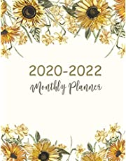 2020-2022 Monthly Planner: Sunflower Cover   2020-2022 Three Year Planer with Holidays   Agenda Yearly Goals Monthly Calendar 36 Months   Academic Schedule Organizer Logbook and Journal Notebook   Personal Appointment Book