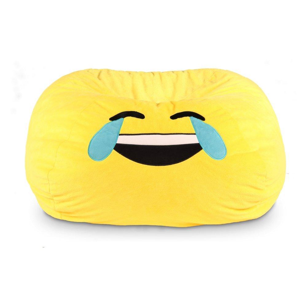 GoMoji 9630401 Emoji Bean Bag Cool Chair, 28 x 28, yellow