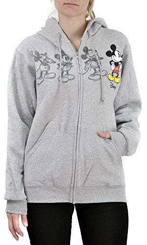 Disney Women's Mickey Mouse Classic Animation Zip Hoodie (Medium) (Zip Womens Hoodie Gifts)