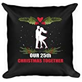 Christmas Anniversary Pillow. Best Gifts For 25th Christmas Together Couple