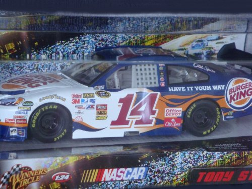 Nascar Detailed Diecast Race Replica Tony Stewart #14 Burger King Car 1/24 Scale - Tony Race Stewart