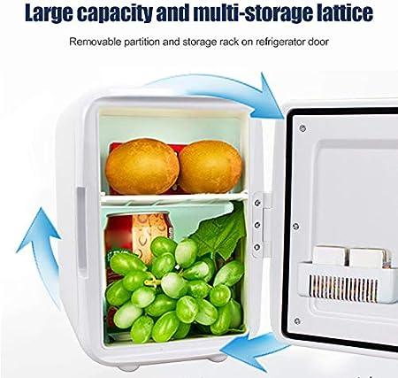 Glomixs Mini refrigerador de maquillaje de 4 L para nevera, doble uso para el hogar y el coche