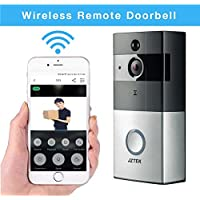 Wireless Video Doorbell - JZTEK Smart Doorbell 720P HD Wifi Security Camera w/ 8G Memory Storage, Real-Time Two-Way Talk, Video, Night Vision, PIR Motion Detection, App Control for IOS & Android