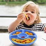 Silicone Divided Toddler Baby Plates - 4 Pack X