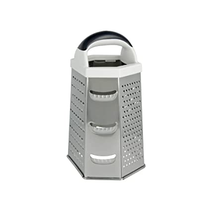 Metaltex Rallador 6 Caras, Acero Inoxidable, Centimeters