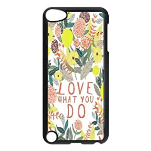 LSQDIY(R) love what you do iPod Touch 5 Case Cover, Customized iPod Touch 5 Cover Case love what you do