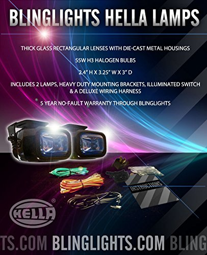 Optilux 1402 Optilux Xenon Halogen Driving Lights Kit Universal Rectangular White