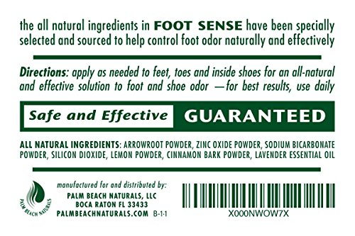 FOOT SENSE All Natural Smelly Foot & Shoe Powder - Foot Odor Eliminator lasts up to 6 months. Safely kills bacteria. Natural formula for smelly shoes and stinky feet. (1 Pack) by Foot Sense (Image #2)