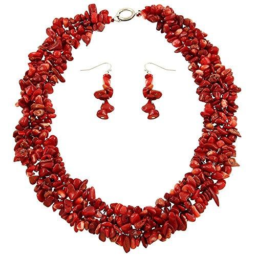 Falari Natural Gemstone Bracelet Necklace