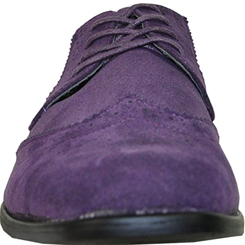 bravo Available Lining Men Classic Wide Oxford Shoe Leather Width King Purple Dress rrwvFxq7