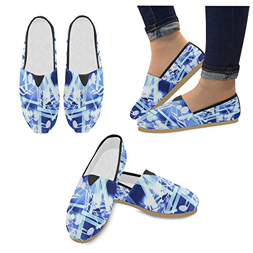 Sneakers D Flats Shoes Multi10 Slip On Canvas Fashion Loafers Sea Story Womens Wave Classic 44qWpwCtER