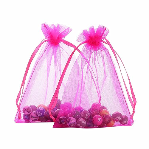 Smozer Sheer Organza Bags, 100pcs 4x6 inch Sheer Organza Wedding Party Favor Gift Jewelry Beads Candy Pouch Bag (Mix Color) by Smozer (Image #5)