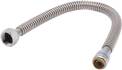 SharkBite SS3088FLEX12LF Water Heater Connector, Push-To