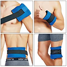 Knee Gel Ice Pack Gives Flexible Reusable in Cold Heat Therapy for Pain Relief, Great for Head, Shoulder, Waist, Thigh, Ankle, Wrist - Set of 2