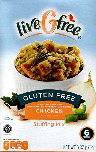 Live G Free Gluten Free Stuffing Mix, 6 Ounces (Pack of 2) (Chicken)