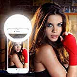 Selfie Ring Light,2EYOU Rechargeable Battery with 36 LED Outdoor Webcast Indispensable Supplementary Light For Most Smart Phones,Ipad, Brightness Levels Adjustable,White