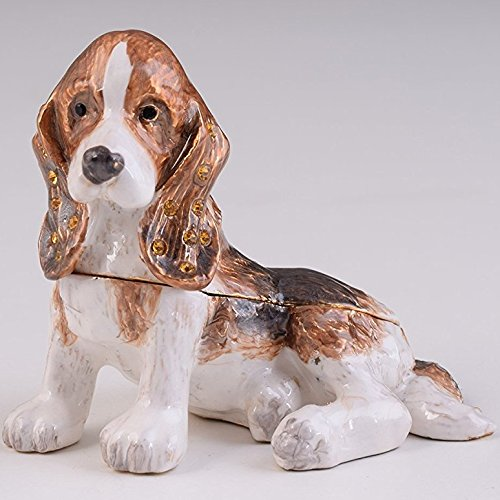 Dog Figurine Collectible (Keren Kopal Brown Basset Hound Dog Trinket Box Collectible Animal Figurine Interior Design)