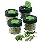 Jarden HOME BRANDS 1440010744 Dry Herb Jars, 4-Ounce, 4-Pack
