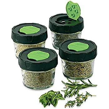 Jarden HOME BRANDS 1440010744 Dry Herb Jars, 4 Ounce, 4 Pack