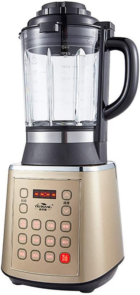 Beach Wave Crusher Blender with 62oz Glass Jar and 8 Functions for Puree, Ice Crush, Shakes and Smoothies, Stainless Steel. (1.75L)