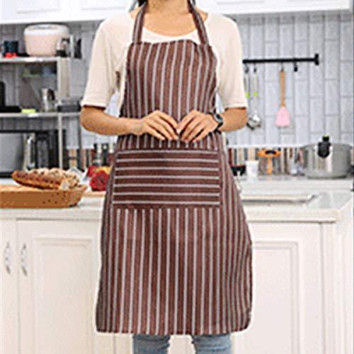 Chefs Apron Professional Quality Blue & White Butchers Kitchen Cooks Restaurant Bistro BBQ School College Double Pockets 100% Cotton