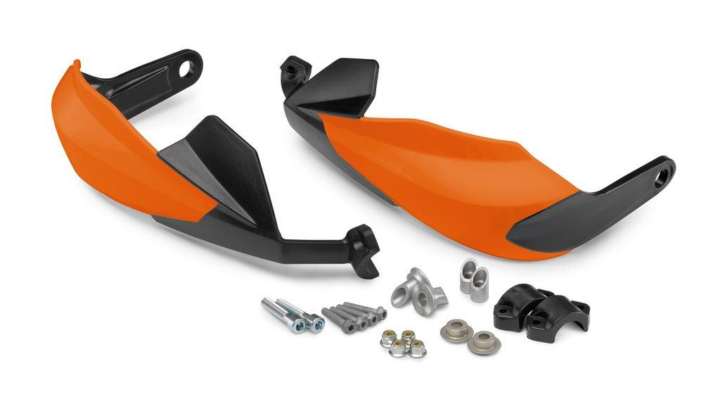 NEW KTM PLASTIC HAND GUARD SET ORANGE 2014-2016 390 DUKE 9010297944404