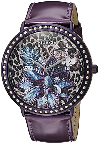 GUESS U0820L3 Crystal Accented Genuine Leather