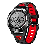 OOLIFENG Fitness Tracker, Activity Wristband with Sports Connected Watch, Blood Pressure Heart Rate Monitor, for Men Women Kids,Red