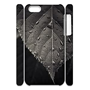 iphone 5c Case 3D, Raindrops On The Leaf Case for iphone 5c white lmiphone 5c172912