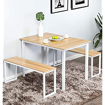 Amazon Com Zinus Becky Farmhouse Dining Table With Two