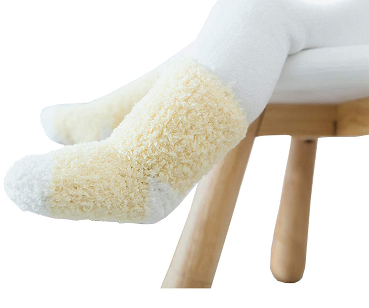 Infants and Children Socks Made of Coral Wool Thick Warm Six Pairs in Winter