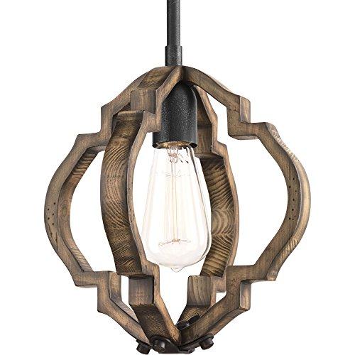 (Progress Lighting P5318-71 Spicewood One-Light Mini-Pendant, Gilded Iron)