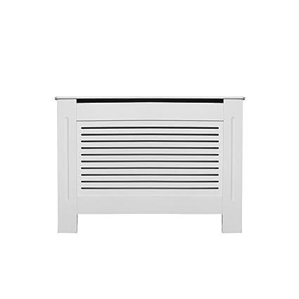 PanaCasa - (1115 * 815 * 190mm Cubierta de Radiador Calefactor Madera MDF Color Blanco