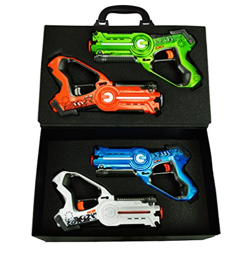Laser Tag Set and Carrying Case - Multiplayer 4 Pack