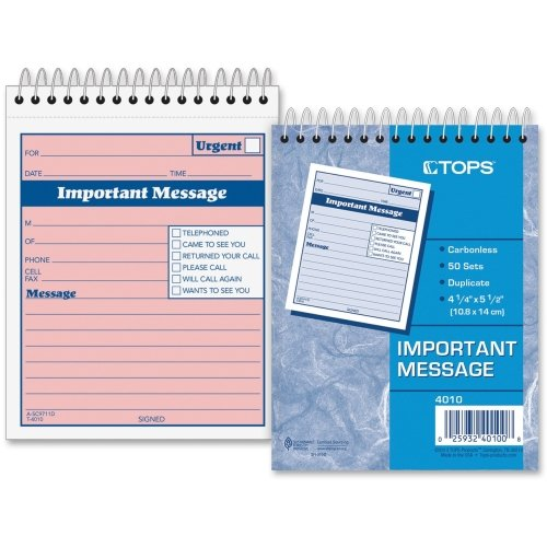 (TOP4010 - Telephone Message Book with Fax/Mobile Section)