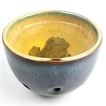 Peacock Blue Masterpiece Japanese 2 in 1 Tea Cup + Ceramic Ocarina Teacarina, Great Gift Ideas