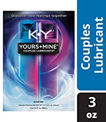 It takes two personal lubricants to make chemistry, to make magic, to make love. K-Y Yours + Mine Couples Lubricants provide an invigorating warming sensation for him and a thrilling tingling sensation for her. Put the two together for a tota...