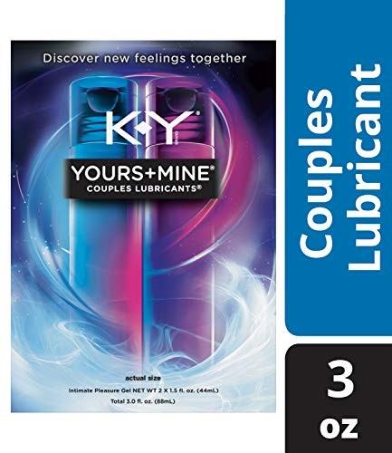 (Lubricant for Him and Her, K-Y Yours & Mine Couples Lubricant, 3 oz, Couples Personal Lubricant and Intimate Gel. Sex Lube for Women, Men & Couples.)