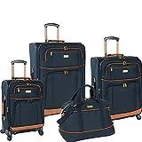Tommy Bahama Mojito Four Piece Luggage Set, Navy, One Size