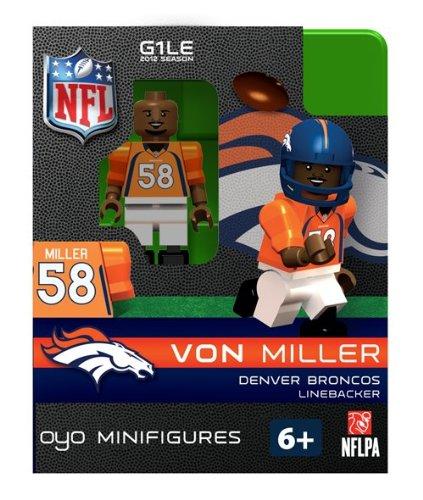 Von Miller NFL Oyo Mini Figure Lego compatibles Broncos de Denver