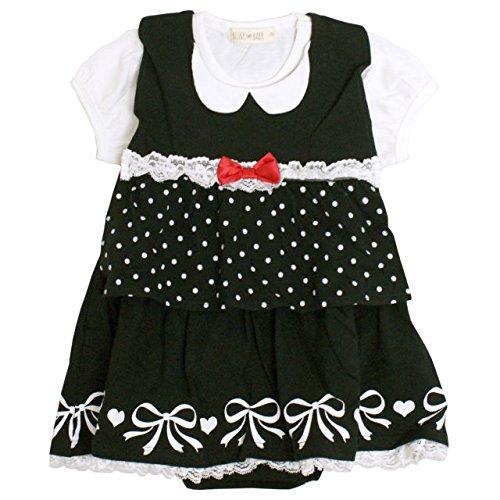 efc5e8b73f535 Amazon.co.jp: ロンパース 赤ちゃん ベビー 女の子 ベスト型スタイ付き フォーマル 半袖 カバーオール  服&ファッション小物