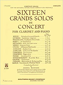 Book 16 Grand Solos de Concert: Clarinet with Piano