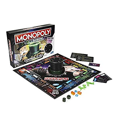 Monopoly Voice Banking Electronic Family Board Game for Ages 8 & Up: Toys & Games