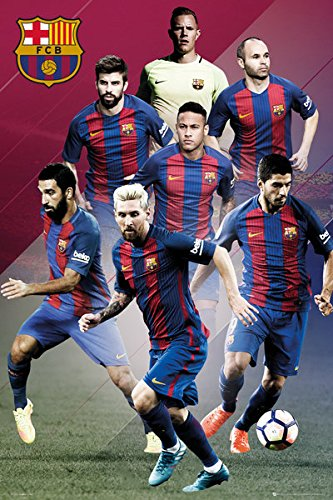 FC Barcelona - Soccer Poster / Print (The Players - 2016/2017) (Size: 24