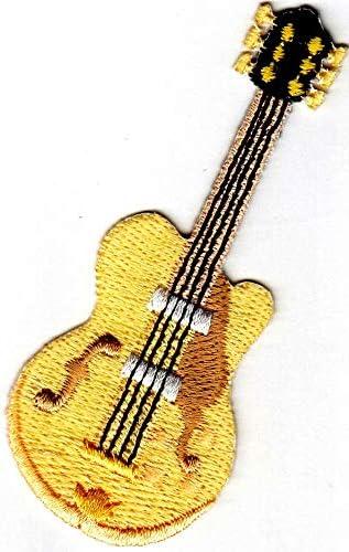 Parche bordado con diseño de guitarra elástica – Música – Jazz ...